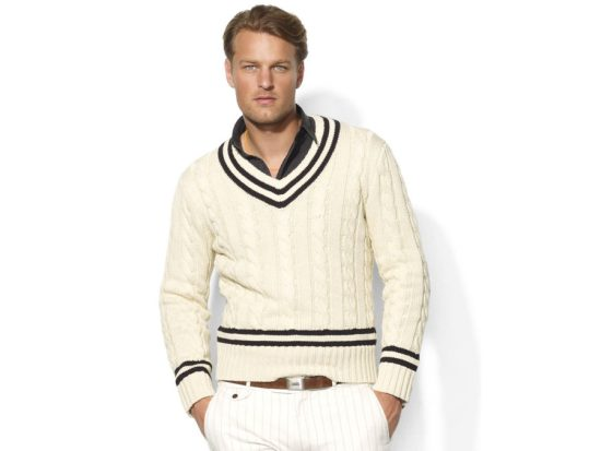 A Ralph Lauren cricket sweater