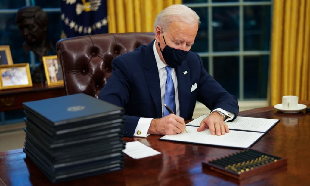 Joe Biden at work Photo Doug Mills EPA