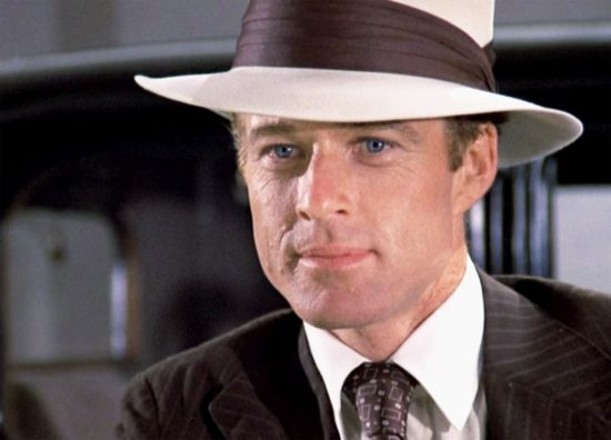 Robert Redford wears a Panama hat in the Great Gatsby