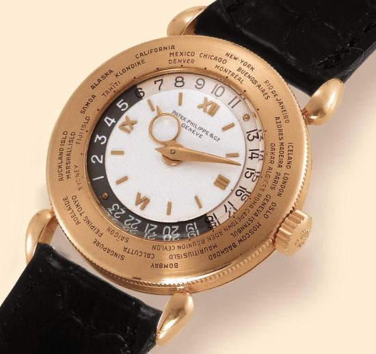 A 1940s World Time watch, reference 1415