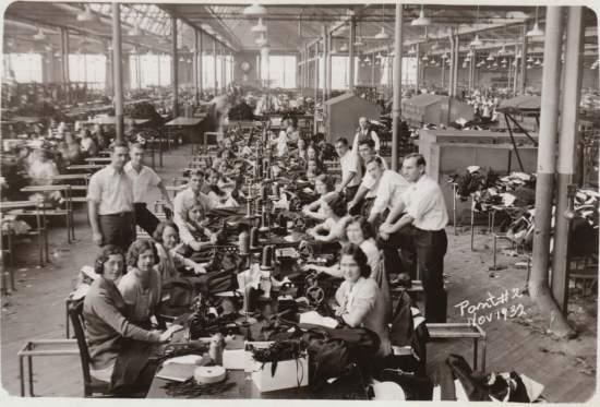 Factory garment production