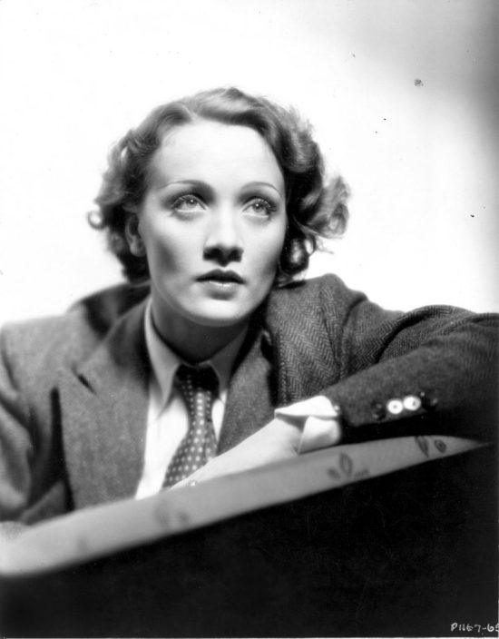 Marlene Dietrich in a Knize Lounge Suit