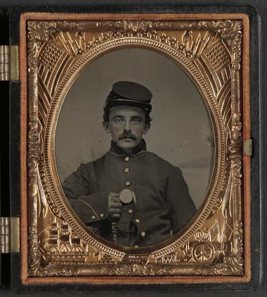 A possible photograph of Jones as a soldier