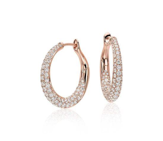 Pave Diamond Earrings