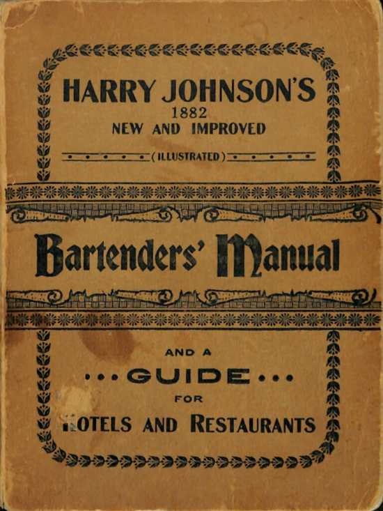 The Bartender's Manual