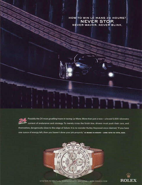 Ad for one of the most beautiful versions of the new Daytona