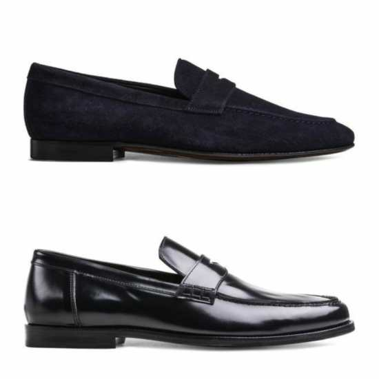 Soft, less structured loafer (top) and more structured loafer (bottom)