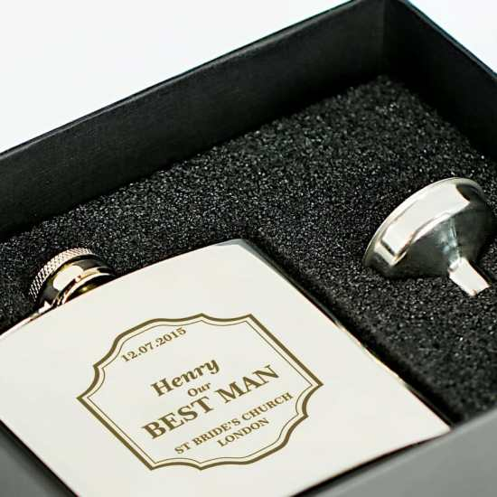 Hip flask as a gift for a best man