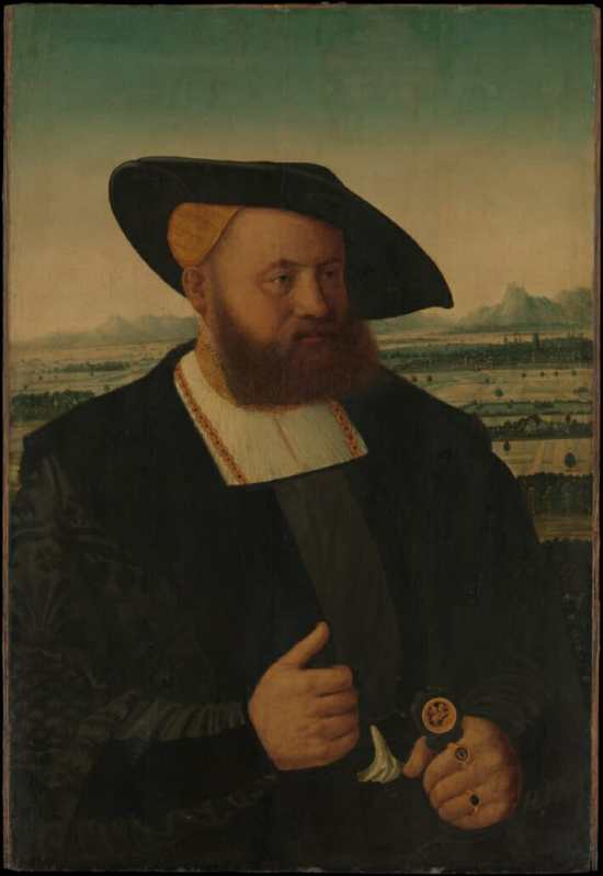 Portrait of a Man with a Moors Head on His Signet Ring