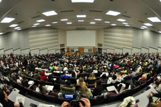 A large classroom