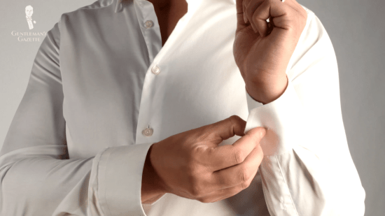 Plain white dress shirt - simple and neat