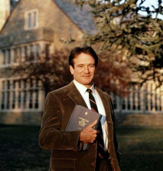 Robin Williams as John Keating