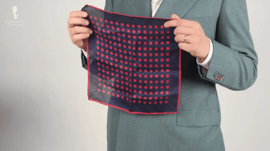 Fort Belvedere prototype pocket square with an open weave