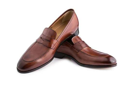 Ace Marks Penny Loafer Cognac Antique