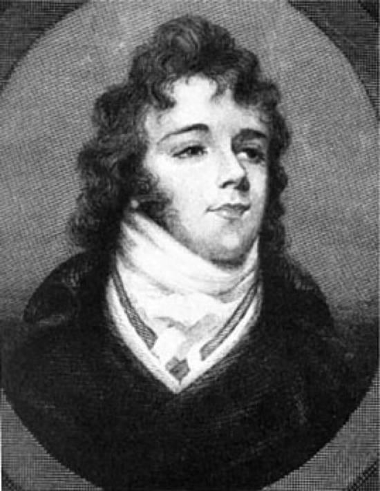 Beau Brummell wearing a high cravat