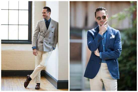 Brian Sacawa Wearing Off-White Trousers