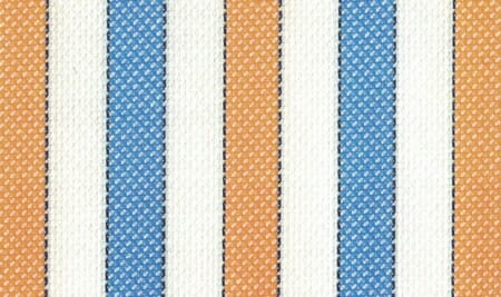 An example of alternating stripes in blue and orange (with black outline).