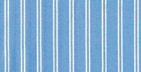 An example of a double stripe; white on a blue background.