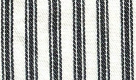 An example of ticking stripes in black.