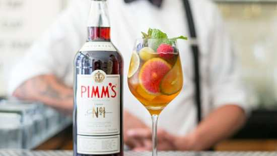 Enjoy a classic Pimm's Cup in the heat