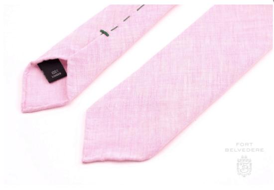 Fort Belvedere pink linen tie