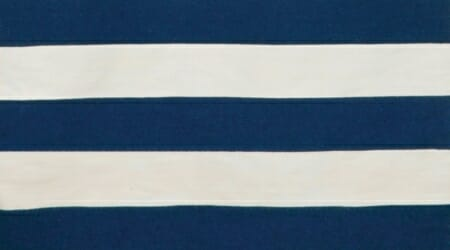 An example of a rugby stripe in navy and white.