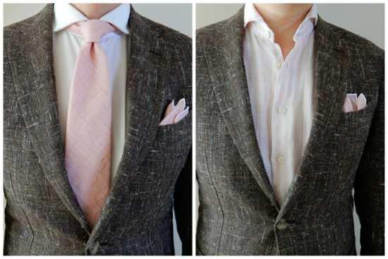 Pink and brown pairings