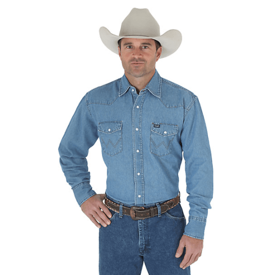 A western-style denim shirt