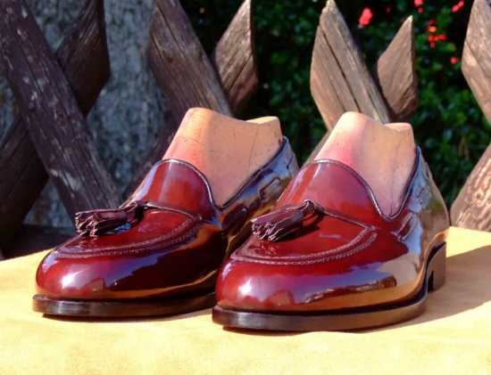 Shell cordovan is noted for a natural high glass shine