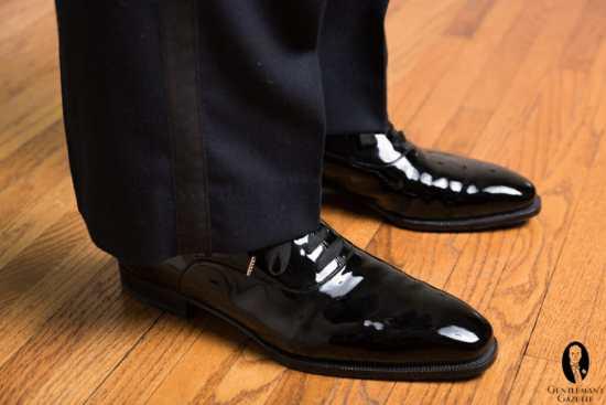 Black Patent Leather Oxford Shoes Black Tie