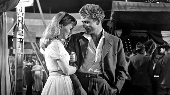 Julie Harris and James Dean in East of Eden, from 1955.
