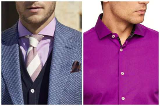 How to wear and not wear a purple shirt
