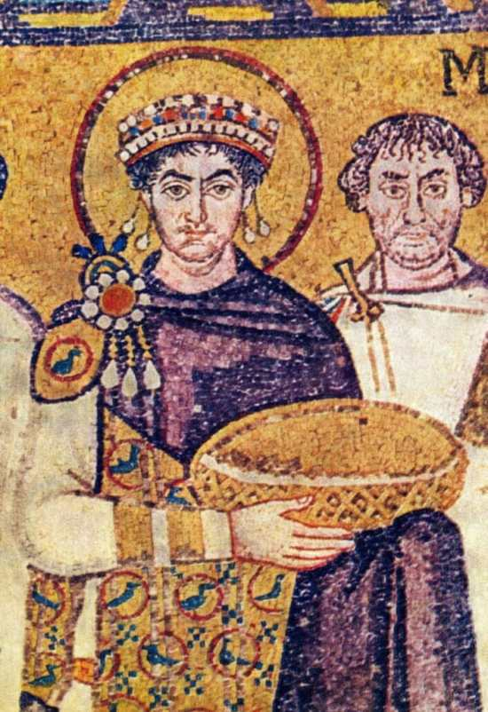Justinian The Great Wearing Purple
