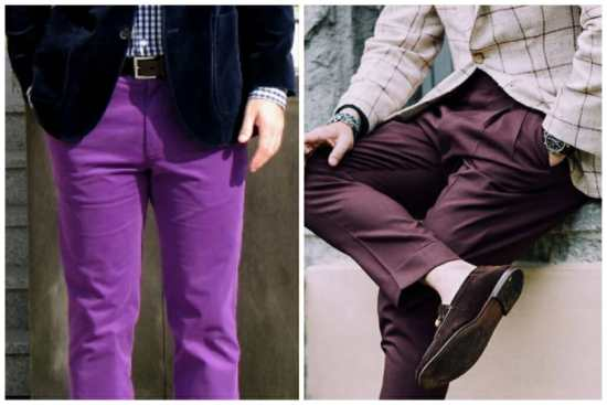 Two attempts at purple pants