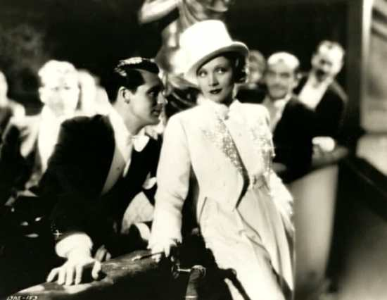 Marlene Dietrich in Blone Venus 1932 in special white tie - note Cary Grant