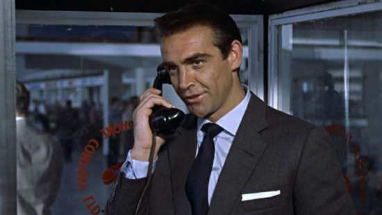 Sean Connery in Dr No wearing a  Garza Grossa Grenadine Tie