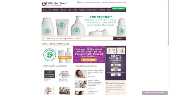 Environmental Working Group Skin Deep Cosmetics Database