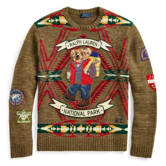 RL Hiking Bear Wool Sweater