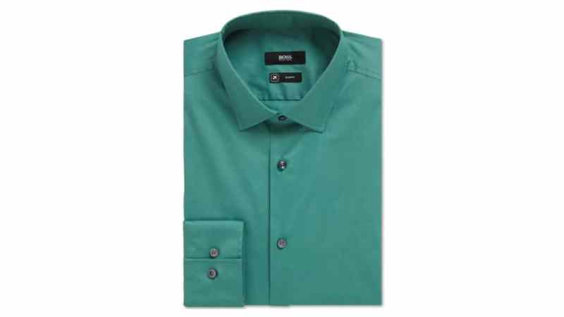 A turquoise dress shirt from Boss