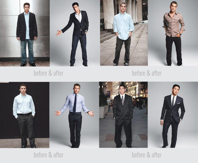 clothing fit before and after