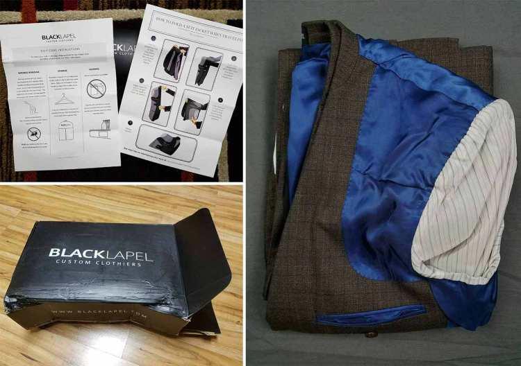 black lapel packaging