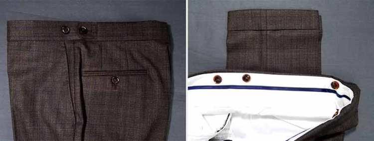 black lapel trousers