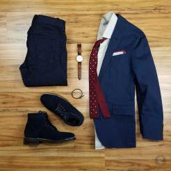 How To Wear A Navy Blue Blazer In The Fall | GENTLEMAN WITHIN