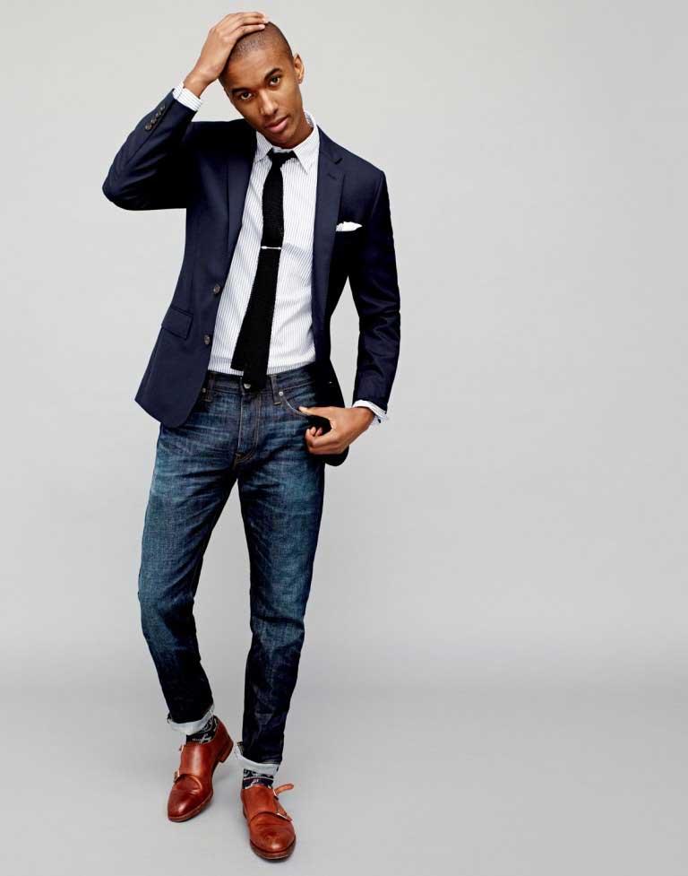 Navy blue blazer mens fashion 83