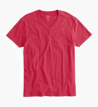 J. Crew Red V-Neck T-Shirt