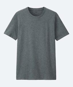 Uniqlo Gray Crewneck T-Shirt