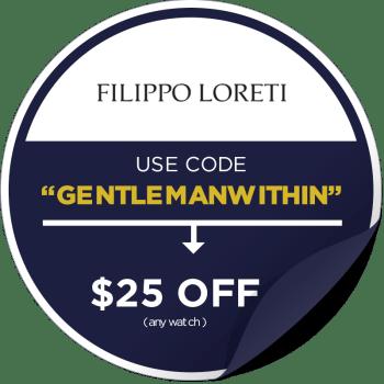 Filippo Loreti Promo Code Sticker