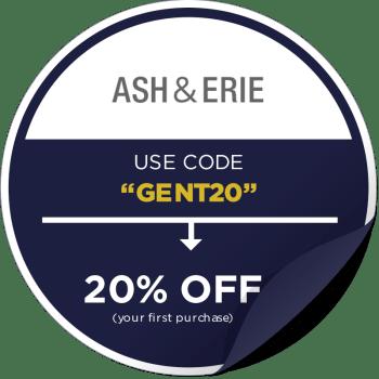 Ash and Erie Promo Code Sticker