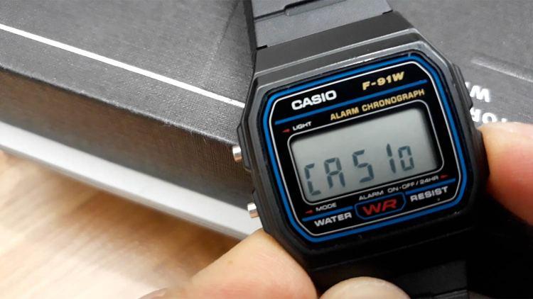 Casio F91W Casio Display | GENTLEMAN WITHIN
