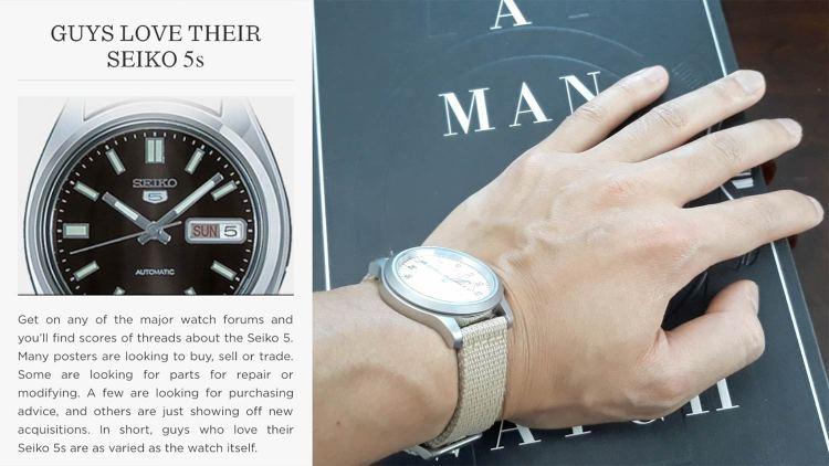 Seiko 5 Vintage Watch   GENTLEMAN WITHIN